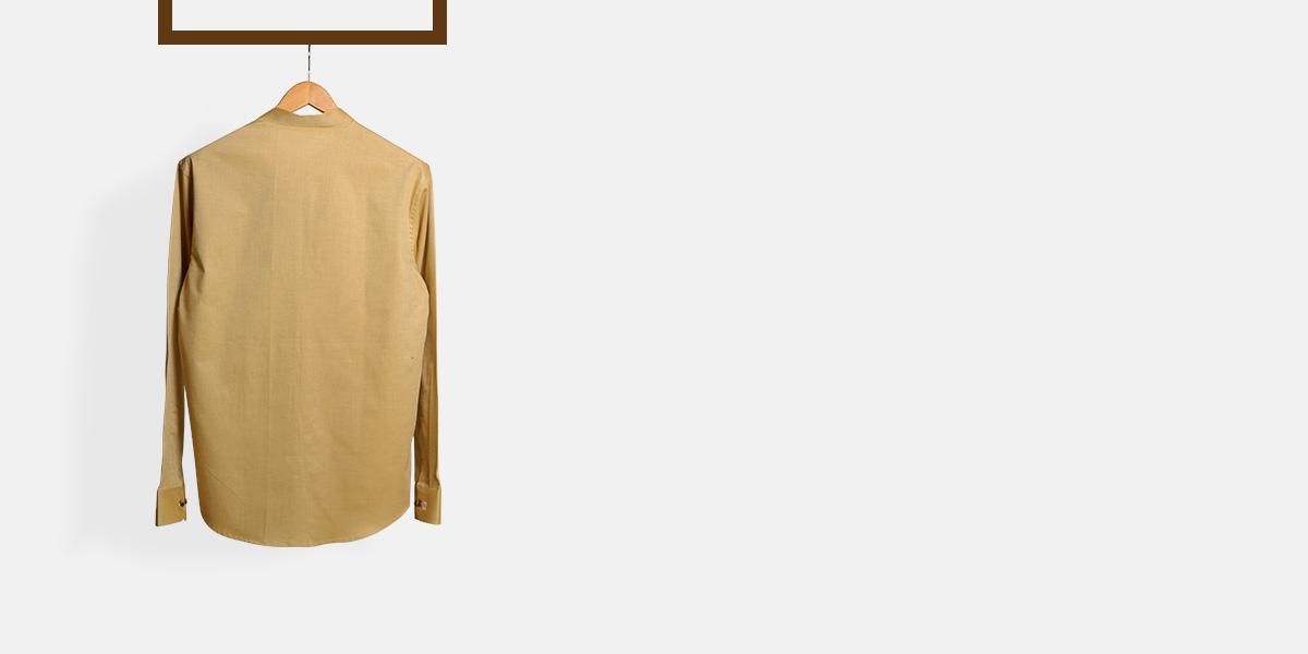 Oxford Brown Henley Shirt- view-2