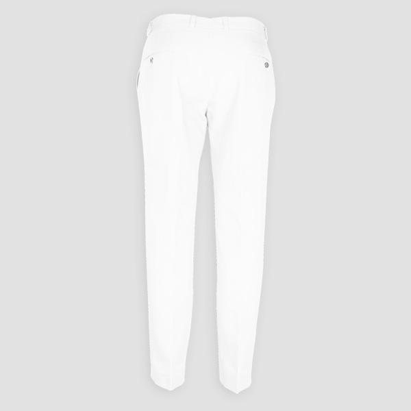 Napoli White Cotton Pants-mbview-2