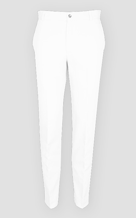 Napoli White Cotton Pants