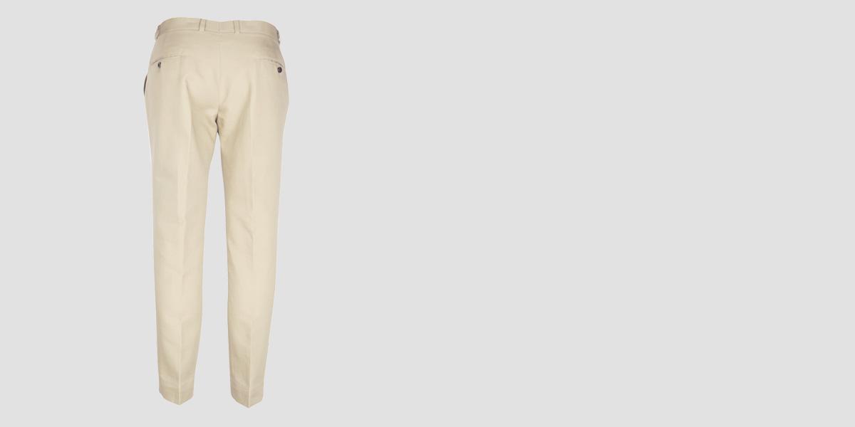 Pastel Beige Cotton Pants- view-2