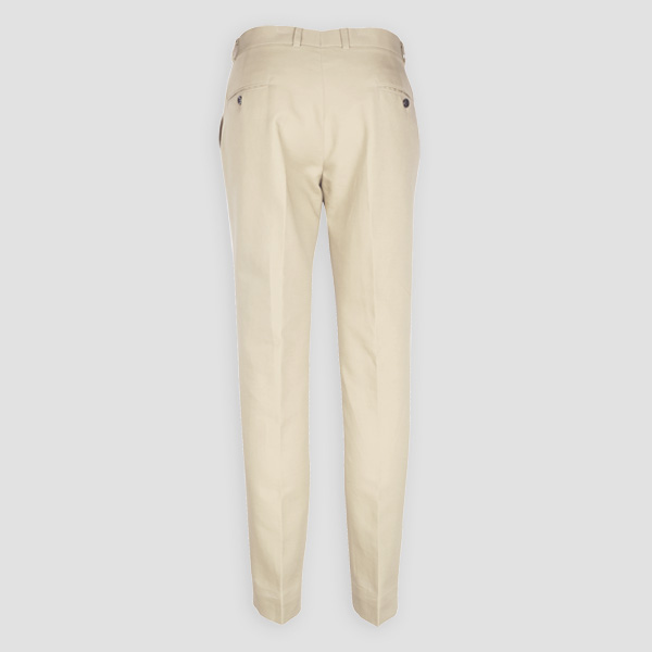 Pastel Beige Cotton Pants-mbview-2
