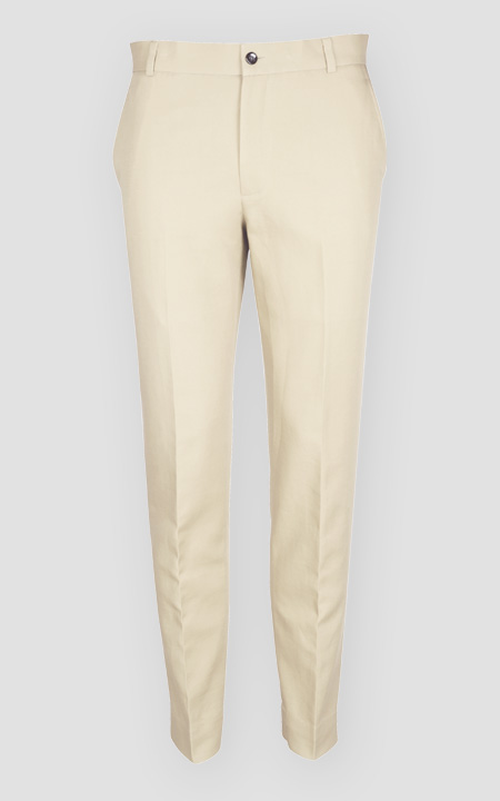 Pastel Beige Cotton Pants