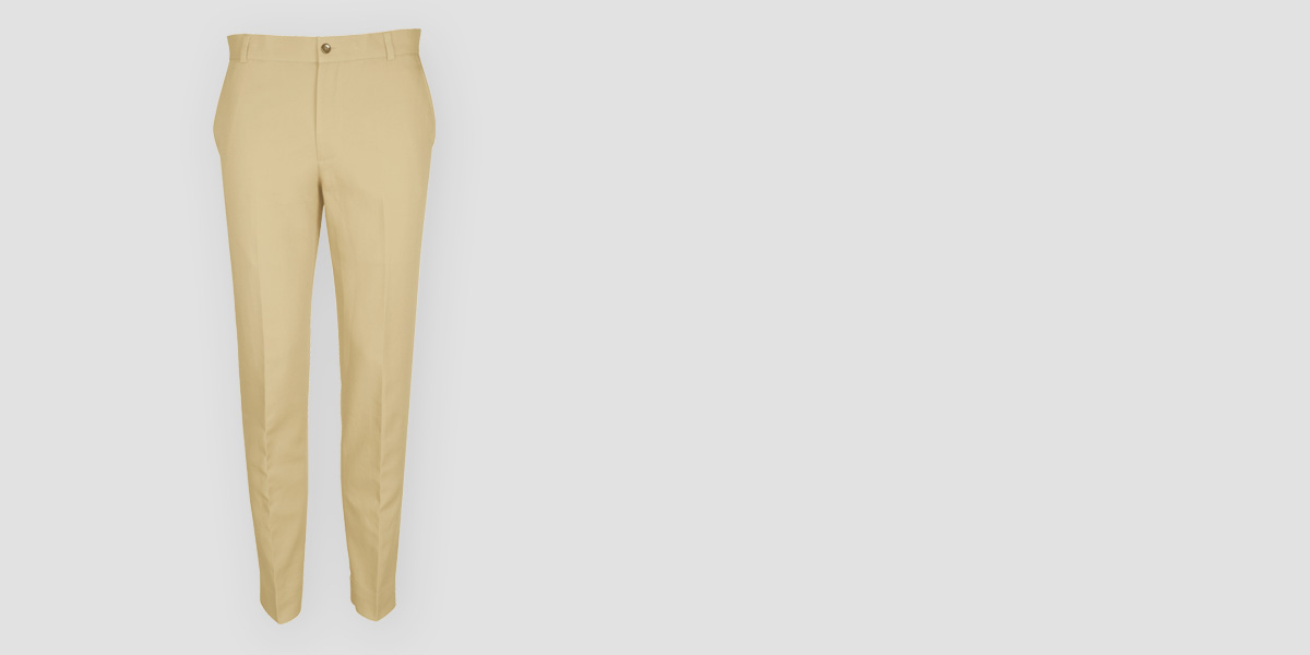 Khaki Brown Cotton Pants- view-1