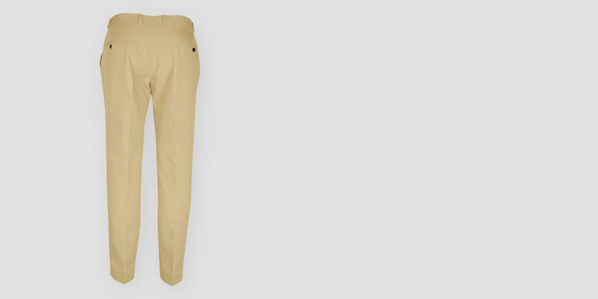 Khaki Brown Cotton Pants- view-2