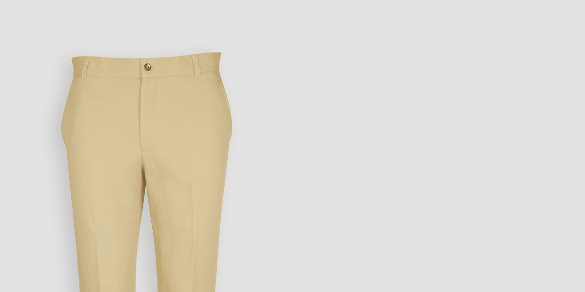 Khaki Brown Cotton Pants- view-3