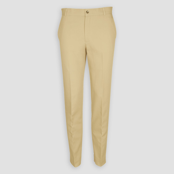 Khaki Brown Cotton Pants-mbview-1