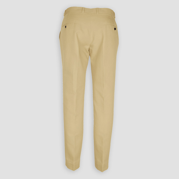 Khaki Brown Cotton Pants-mbview-2
