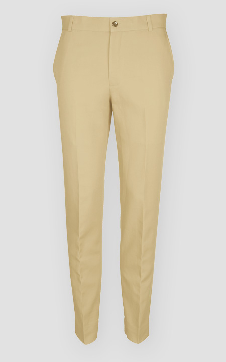 Khaki Brown Cotton Pants
