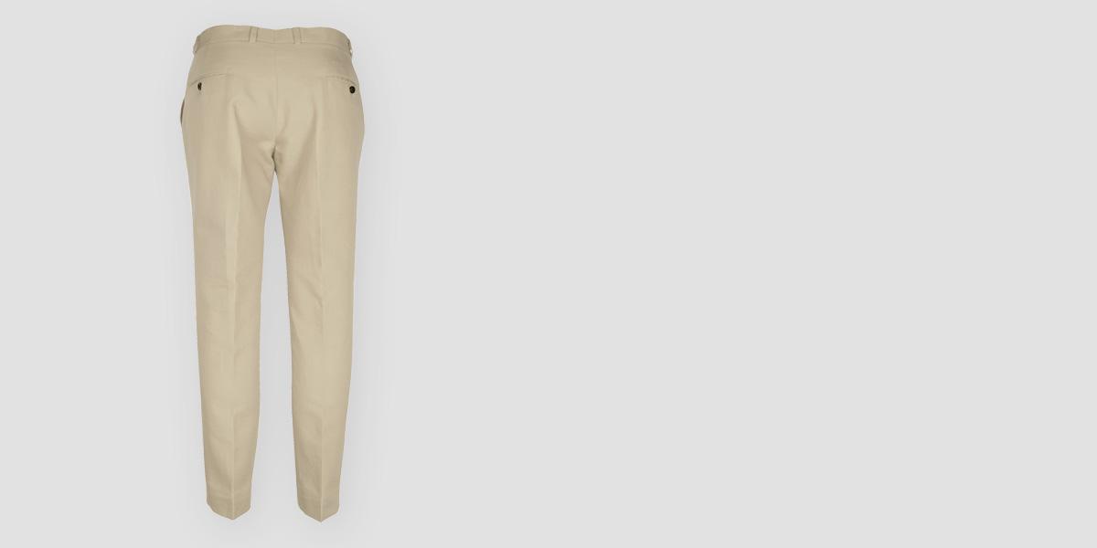 Light Beige Khaki Cotton Pants- view-2