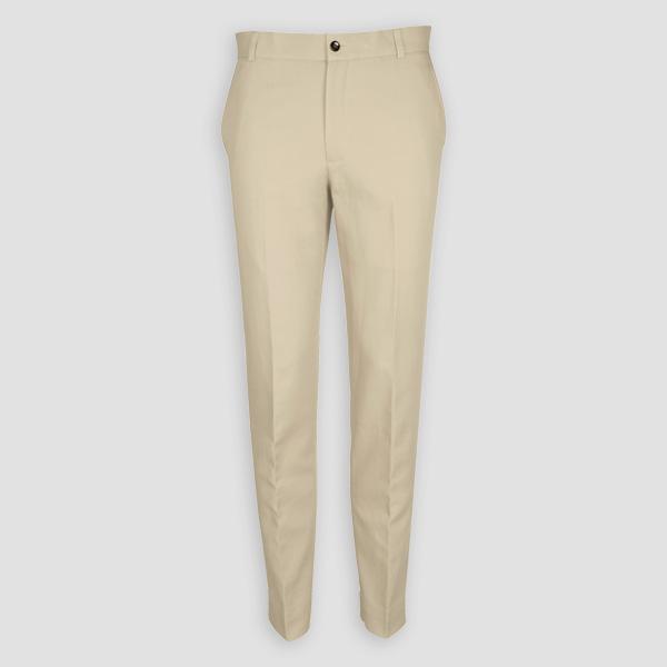 Light Beige Khaki Cotton Pants-mbview-1