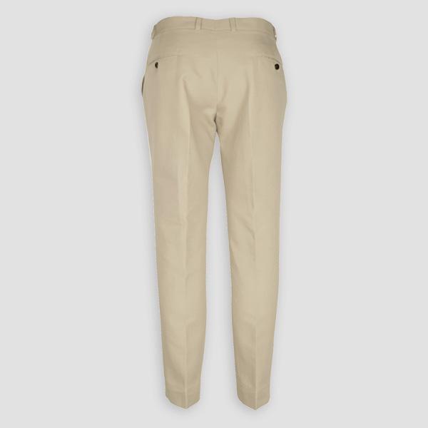 Light Beige Khaki Cotton Pants-mbview-2