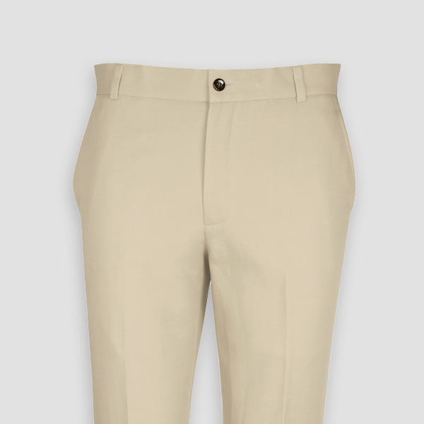 Light Beige Khaki Cotton Pants-mbview-3