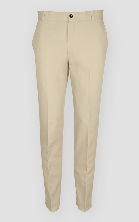 Light Beige Khaki Cotton Pants
