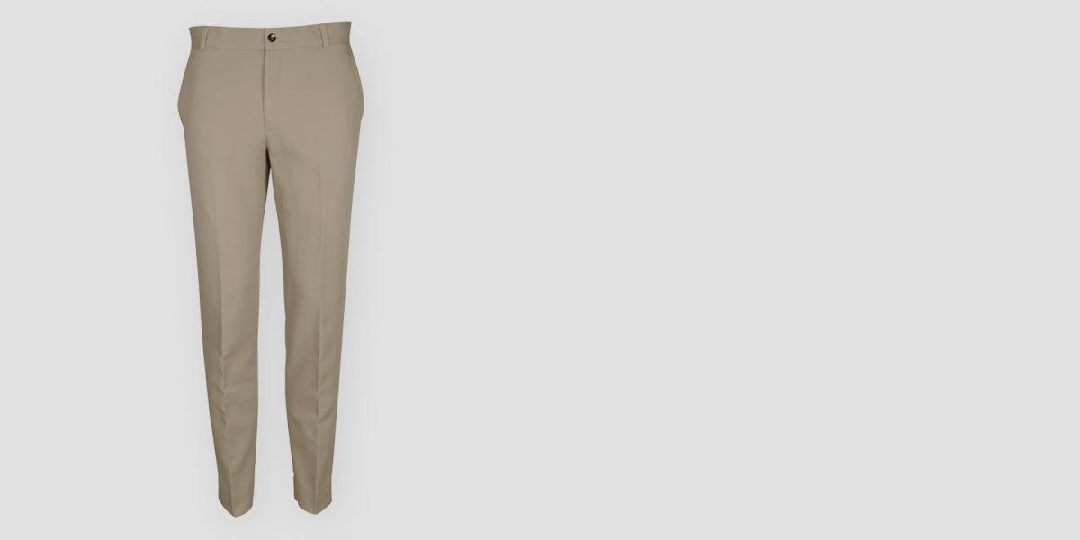 Pebble Brown Cotton Pants- view-1