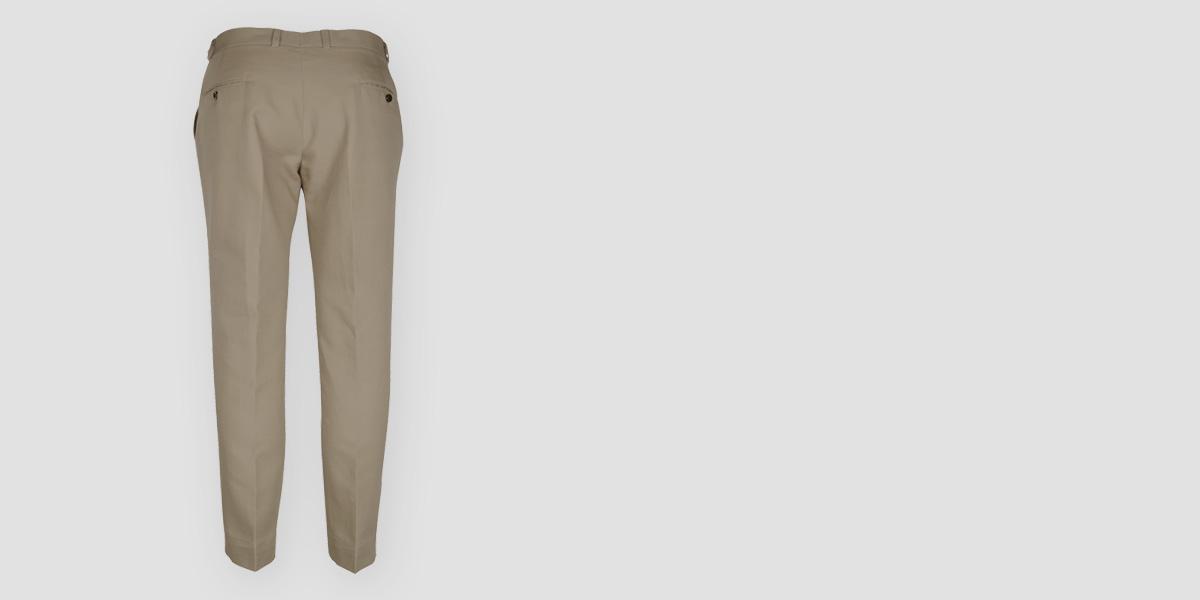 Pebble Brown Cotton Pants- view-2