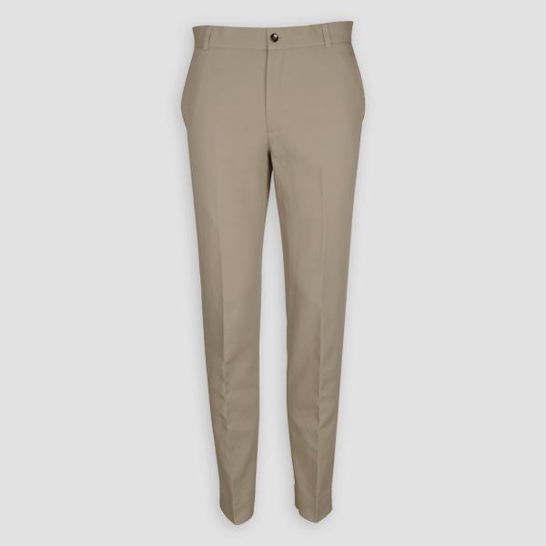 Pebble Brown Cotton Pants-mbview-1