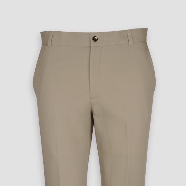 Pebble Brown Cotton Pants-mbview-3