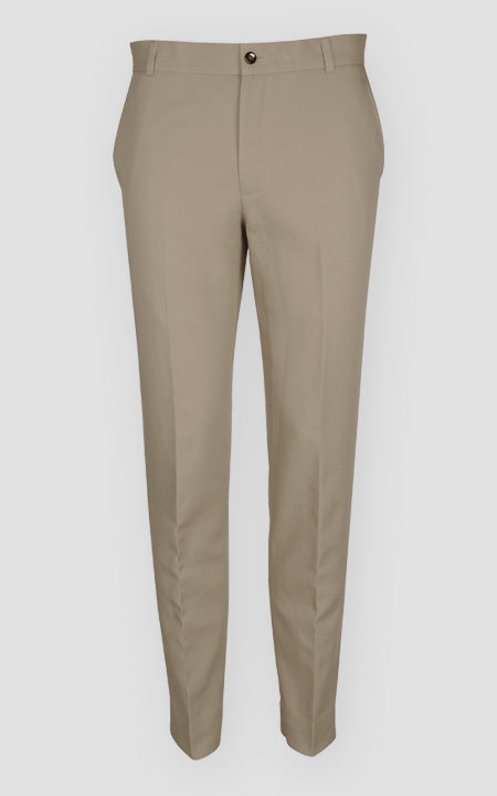 Pebble Brown Cotton Pants