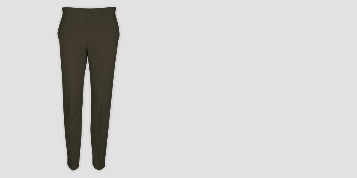 Taupe Green Cotton Pants- view-1