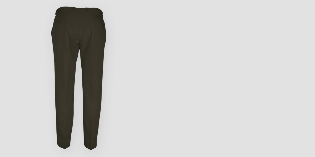 Taupe Green Cotton Pants- view-2