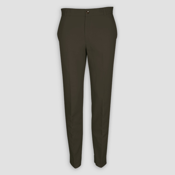 Taupe Green Cotton Pants-mbview-1
