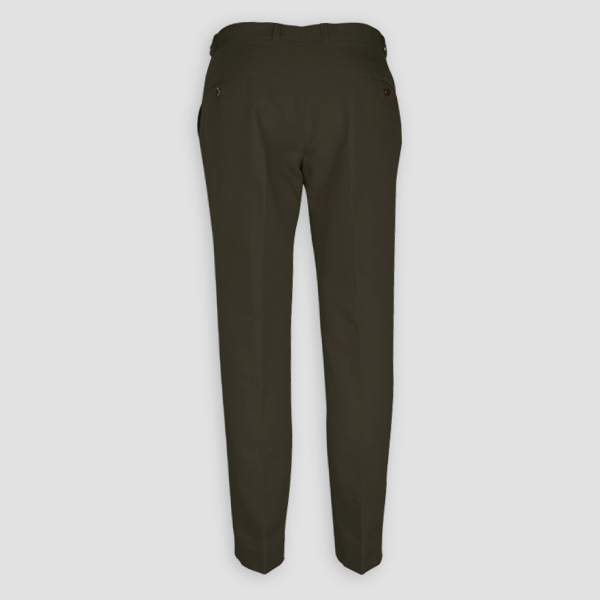 Taupe Green Cotton Pants-mbview-2