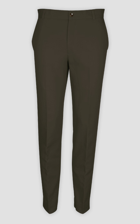 Taupe Green Cotton Pants