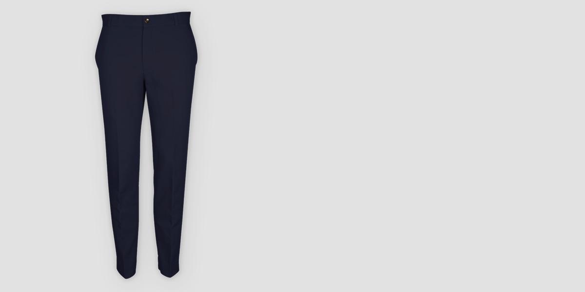 Navy Cotton Pants- view-1