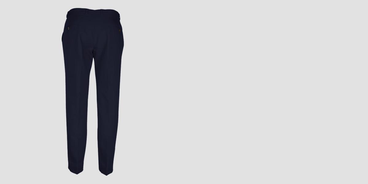 Navy Cotton Pants- view-2