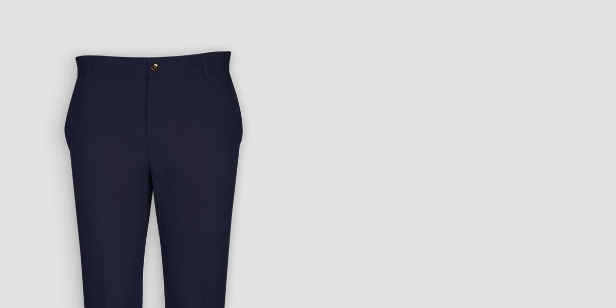 Navy Cotton Pants- view-3