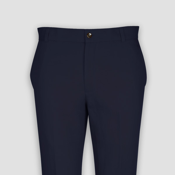 Navy Cotton Pants-mbview-3