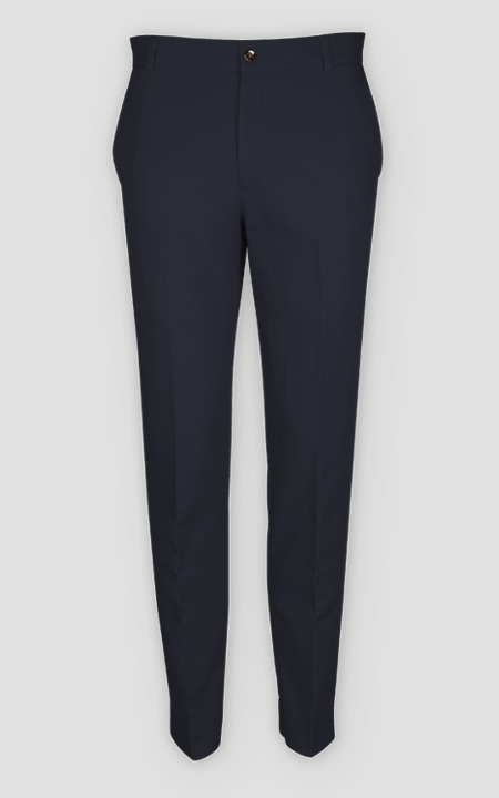 Prussian Blue Cotton Pants