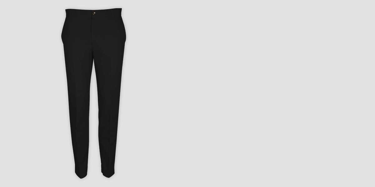 Black Cotton Pants- view-1