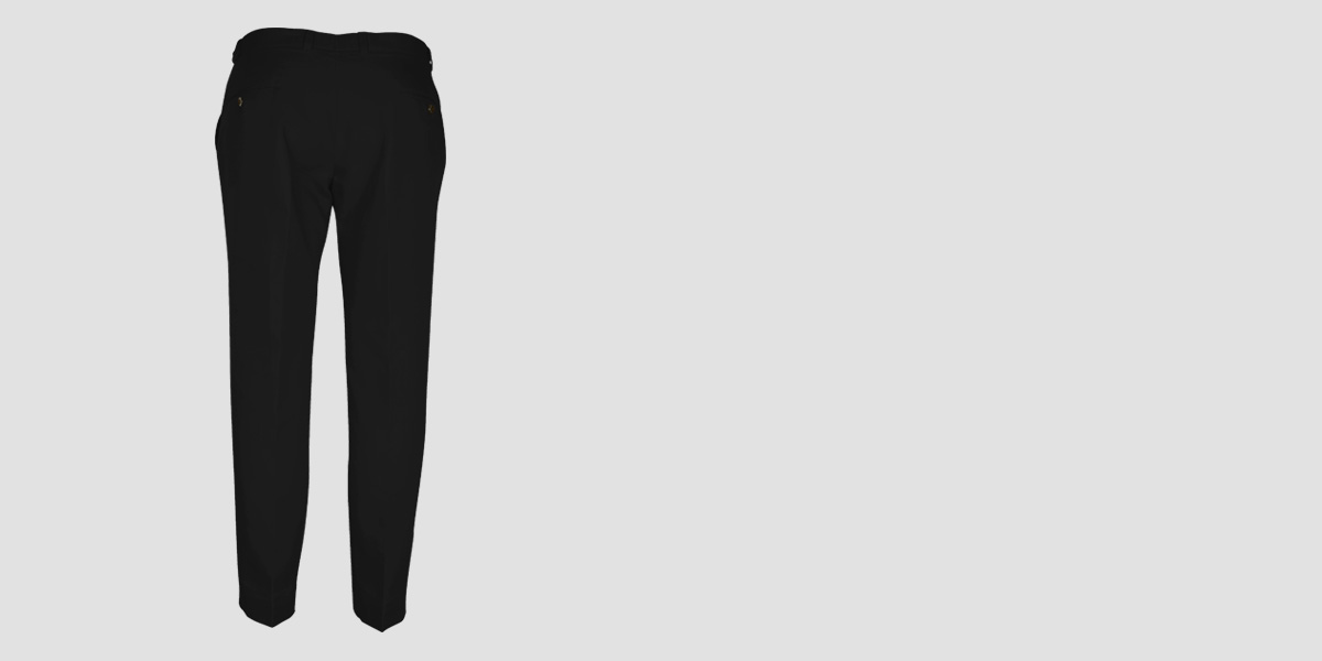Black Cotton Pants- view-2