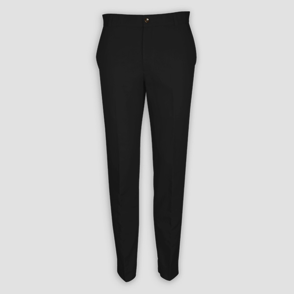 Black Cotton Pants-mbview-1