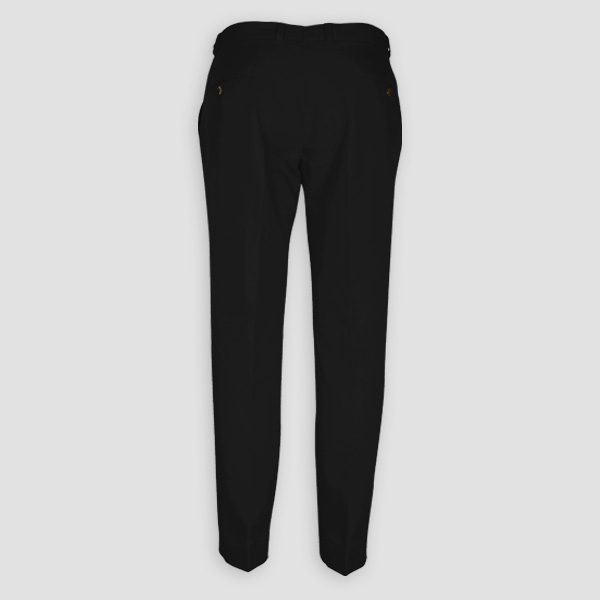 Black Cotton Pants-mbview-2