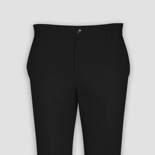 Black Cotton Pants-mbview-3