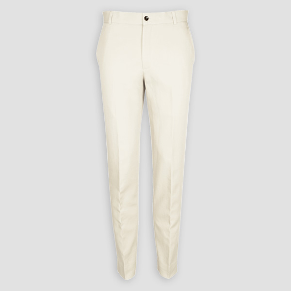 Cream Cotton Pants-mbview-1