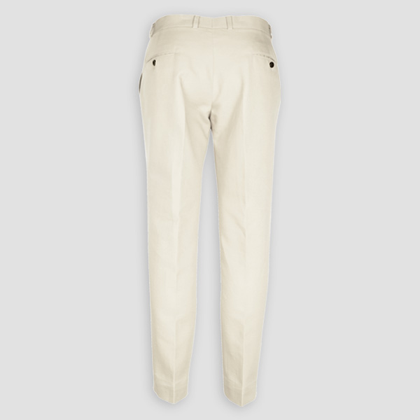 Cream Cotton Pants-mbview-2