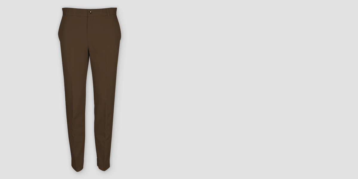 Brown Cotton Pants- view-1