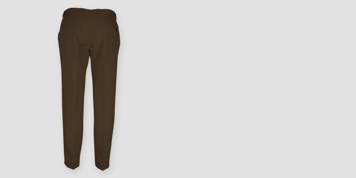 Brown Cotton Pants- view-2