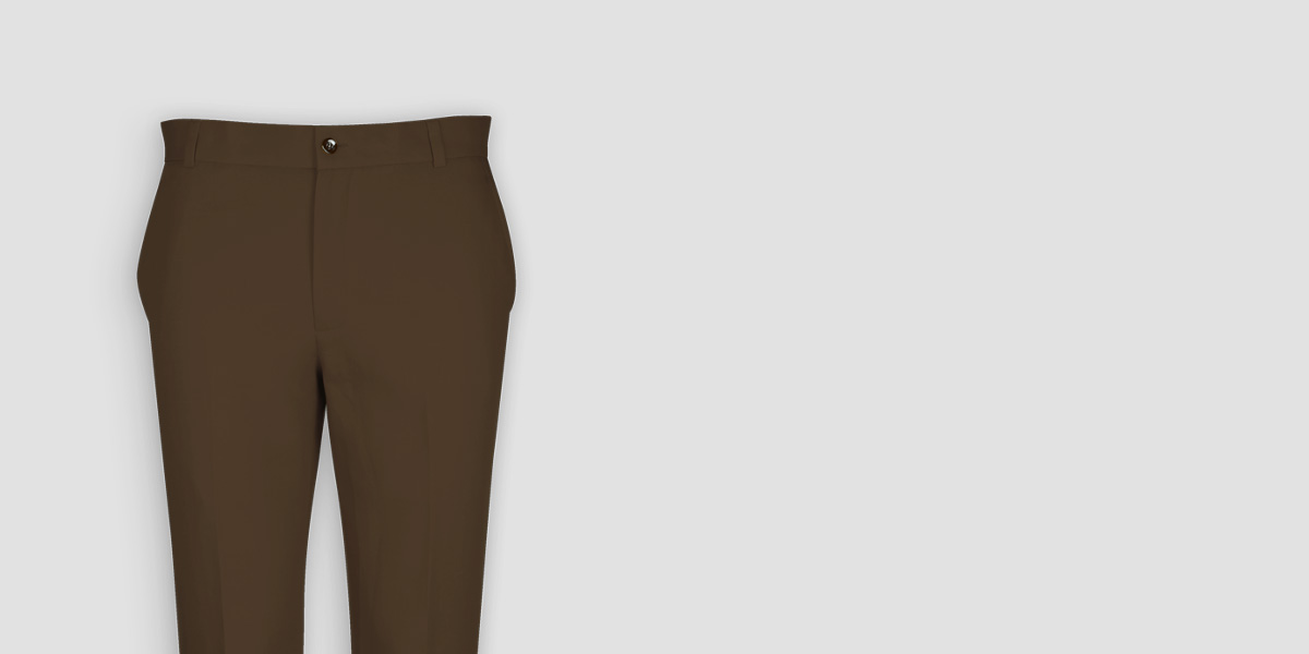 Brown Cotton Pants- view-3