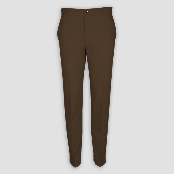 Brown Cotton Pants-mbview-1