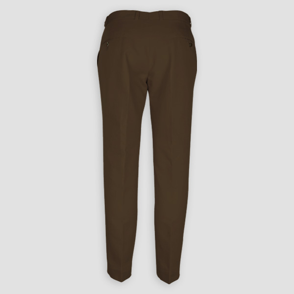 Brown Cotton Pants-mbview-2