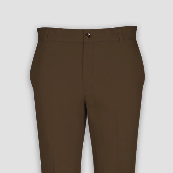 Brown Cotton Pants-mbview-3