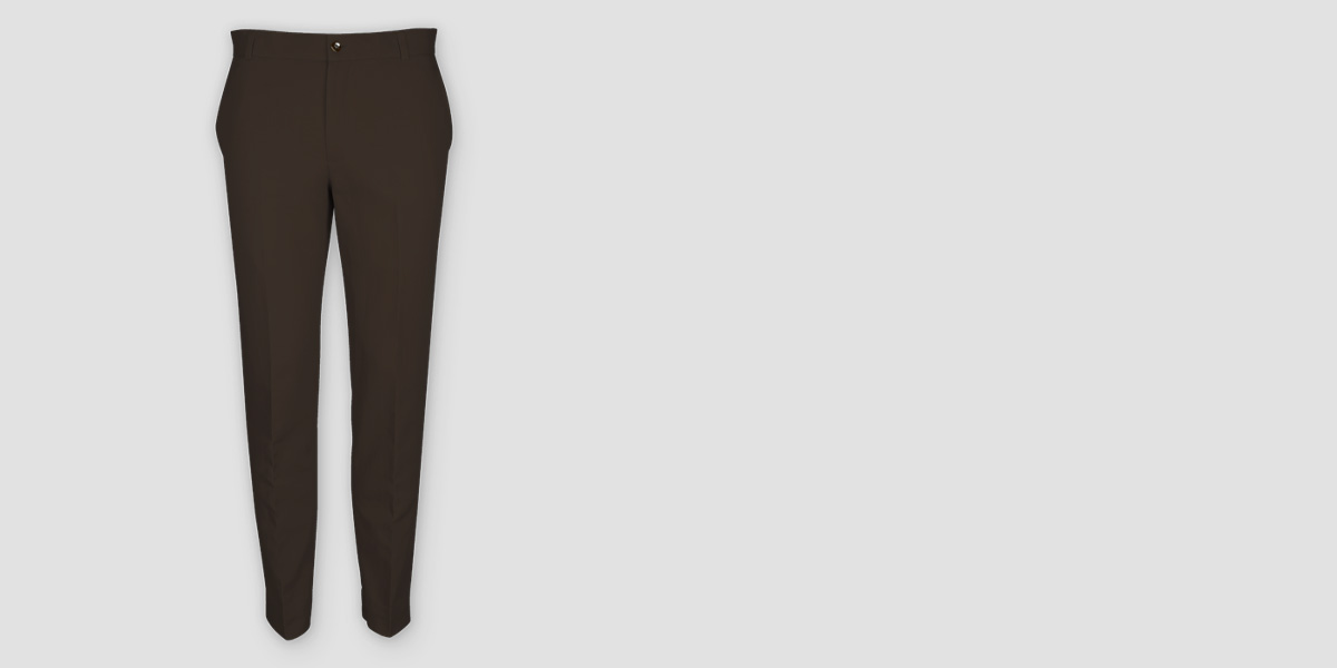 Forest Brown Cotton Pants- view-1