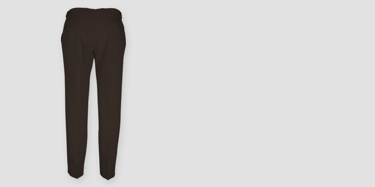 Forest Brown Cotton Pants- view-2