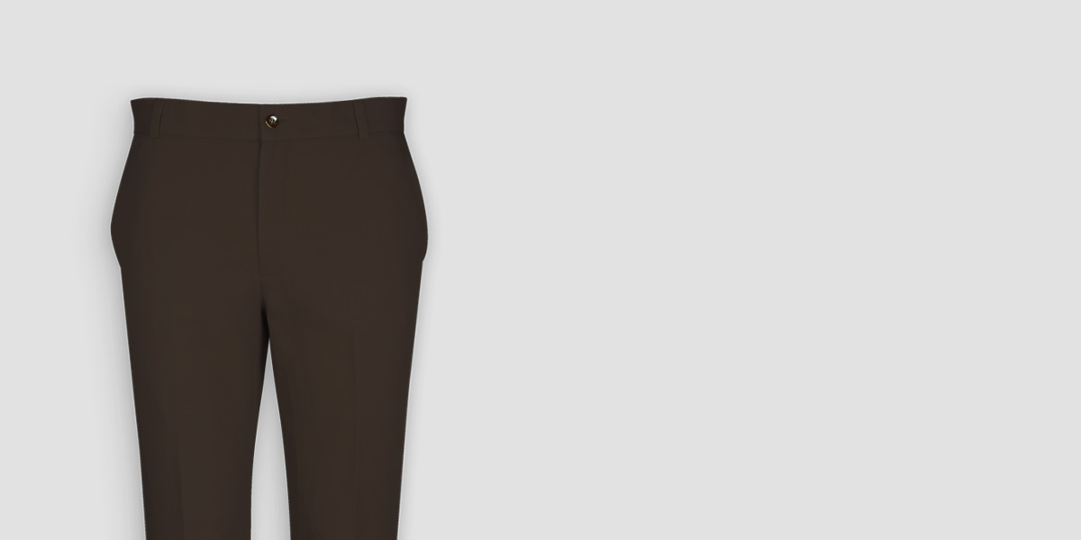 Forest Brown Cotton Pants- view-3