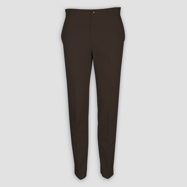 Forest Brown Cotton Pants-mbview-main