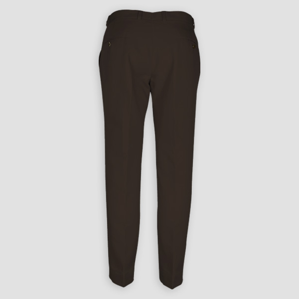 Forest Brown Cotton Pants-mbview-2